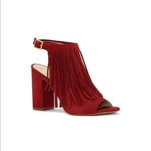 Red Vince Camuto  Sued Booties